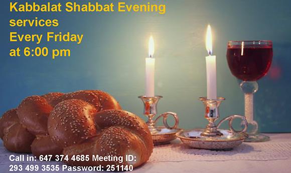 Kabbat Shabbat Evening Sevices